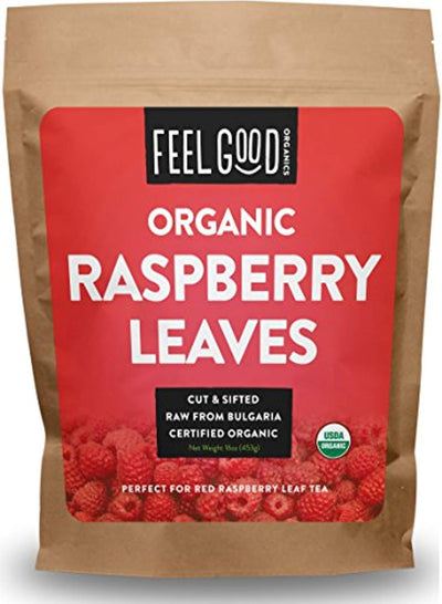 Organic Red Raspberry Leaf - Cut & Sifted Leaves - 16oz Resealable Bag (1lb) - 100% Raw From Bulgaria