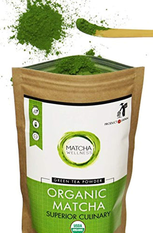 Matcha Green Tea Powder - Superior Culinary - USDA Organic From Japan -Natural Energy & Focus Booster