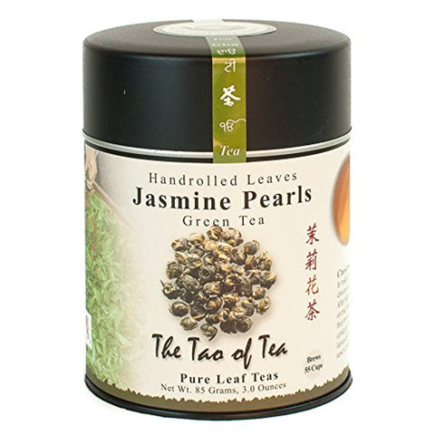 The Tao of Tea, Handrolled Jasmine Pearls Green Tea, Loose Leaf, 3 Ounce Tin