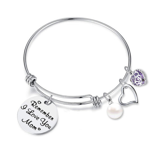 EGOO YAMEE Tree of Life Bracelet Charm Stainless Steel CZ Heart Bracelet Adjustable Bangle Gift for Women Girl Sister Mother Friends