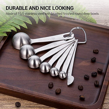 Measuring Spoons Set Stainless Steel - 7 Pieces