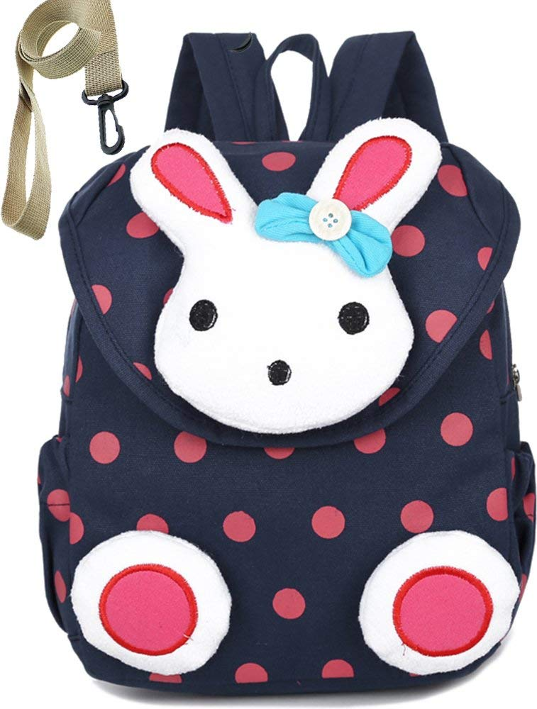 Toddler Kid Backpack with Safety Harness Leash Rabbit Bunny Boy Girl Under 3 Age