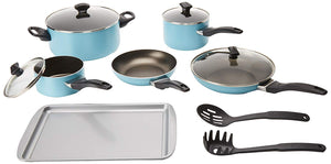 Nonstick Aluminum 15-Piece Cookware Set Farberware Dishwasher Safe
