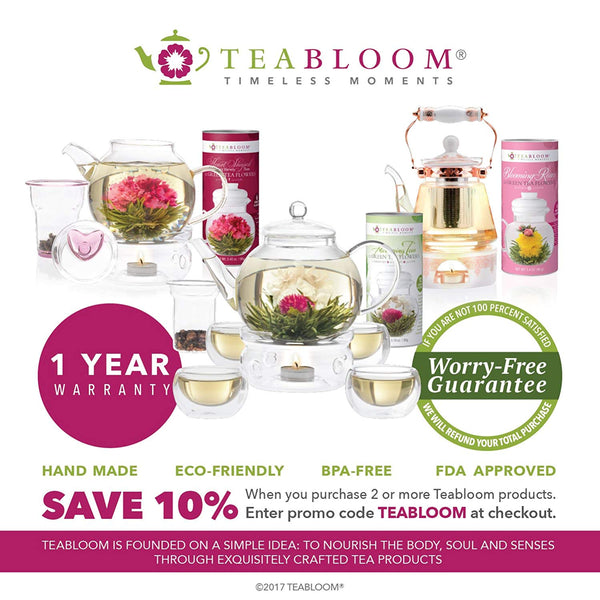 Teabloom Berry Flowering Teas - 12 Assorted, Delicious Berry Blooming Teas