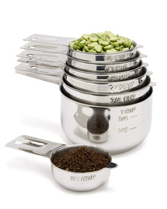 Measuring Cups 7 Piece with 1/8 Cup Coffee Scoop by Simply Gourmet.