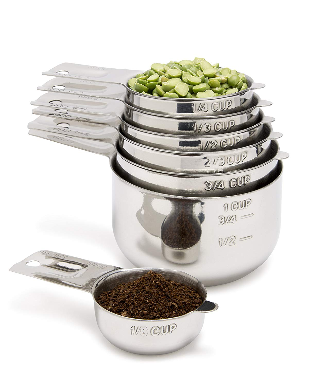 Measuring Cups 7 Piece with 1/8 Cup Coffee Scoop