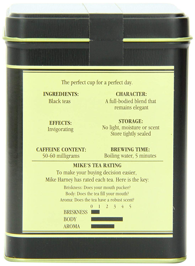 Harney & Sons Earl Grey Black Tea, Loose Leaf, 8 Ounce tin
