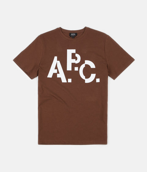 A.P.C. Decale T-Shirt - Brown