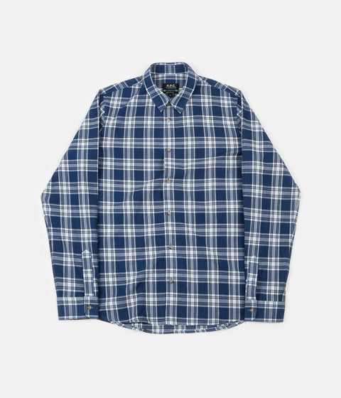 A.P.C. Hector Shirt - Washed Indigo