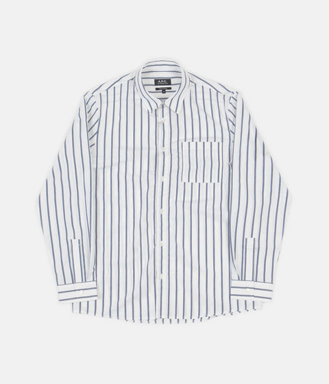 A.P.C. Rami Shirt - Steel Blue