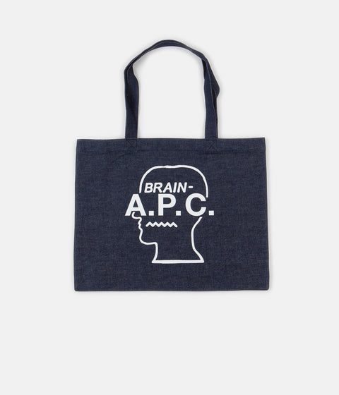 A.P.C. x Brain Dead Shopping Bag - White