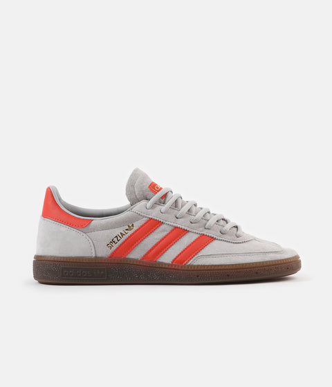 Adidas Originals Handball Spezial Shoes - Grey Two / Hi Res Red / Gold Metallic