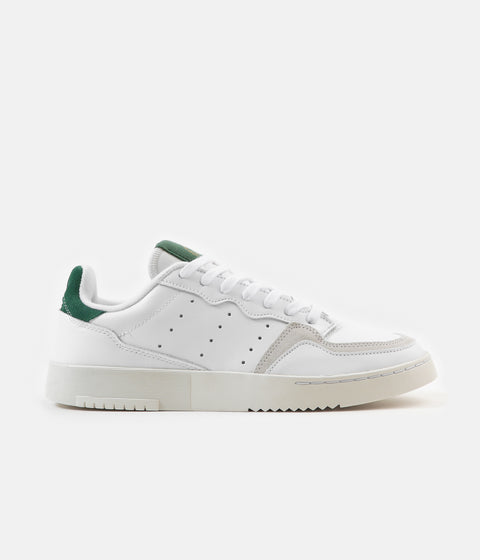 Adidas Originals Supercourt Shoes - White / White / Collegiate Green