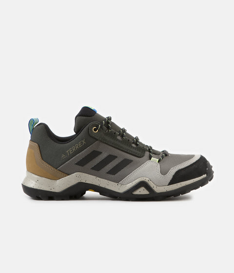 Adidas Originals Terrex AX3 Hiking Shoes - Legacy Green / Black / Glow Blue