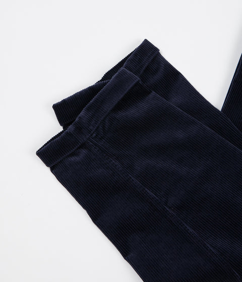 Albam Cord Pleat Trousers - Navy