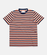Image for Albam Striped T-Shirt - Orange / Navy / Ecru