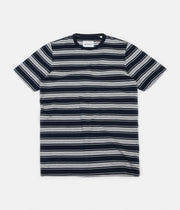 Albam Vintage Stripe T-Shirt - Navy / White / Grey Marl