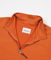 Albam Zipped Jersey Pullover Sweatshirt - Burnt Orange