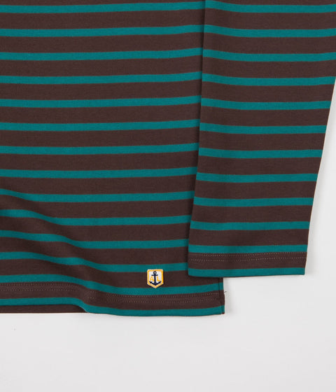 Armor Lux Breton Long Sleeve T-Shirt - Cartouche / Malachite