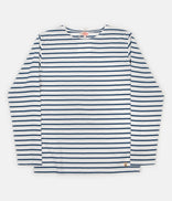Image for Armor Lux Breton Long Sleeve T-Shirt - Milk / Twilight