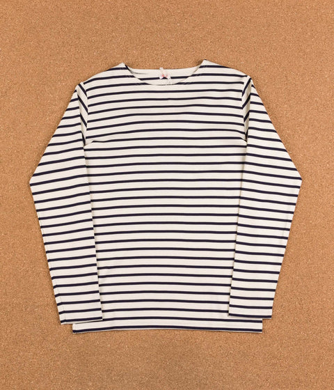 Armor Lux Breton Long Sleeve T-Shirt - Nature / Navy