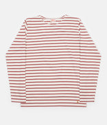 Image for Armor Lux Breton Long Sleeve T-Shirt - Nature / Red Manganese