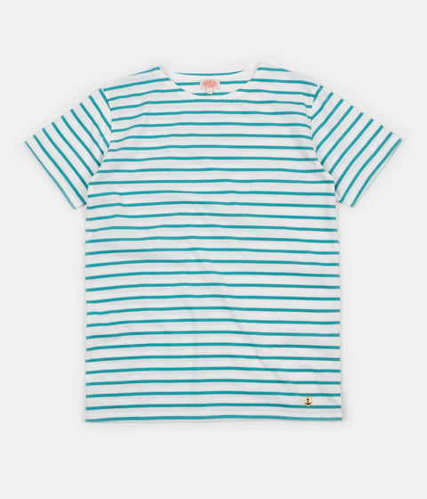 Armor Lux Breton Sailor Stripe T-Shirt - Milk / Rivage