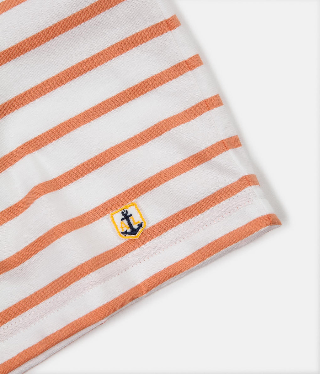 Armor Lux Breton Sailor Striped T-Shirt - Milk / Melon