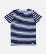 Image for Armor Lux Breton Sailor Striped T-Shirt - Polo / Milk