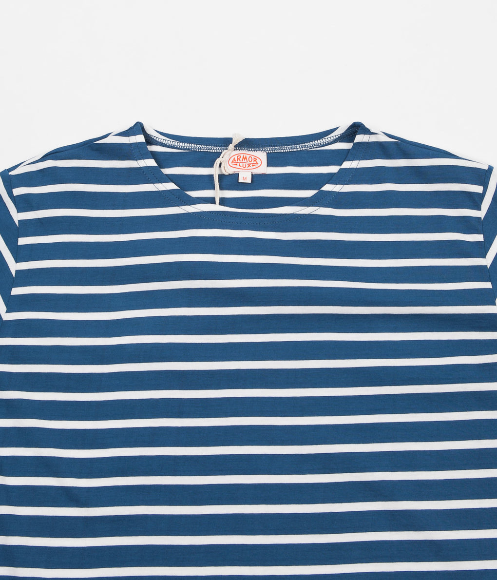 Armor Lux Striped Breton T-Shirt - Dark Blue Twilight / Milk