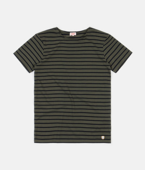 Armor Lux Striped Breton T-Shirt - Epicea Green / Rich Navy
