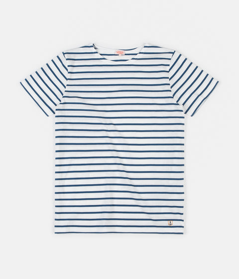 Armor Lux Striped Breton T-Shirt - Milk / Twilight
