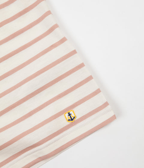 Armor Lux Striped Breton T-Shirt - Nature / Pink Atlas