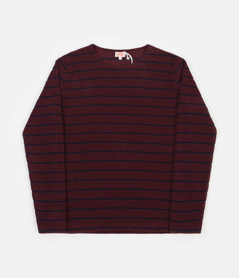 Armor Lux Terry Long Sleeve T-Shirt - Chianti / Navy