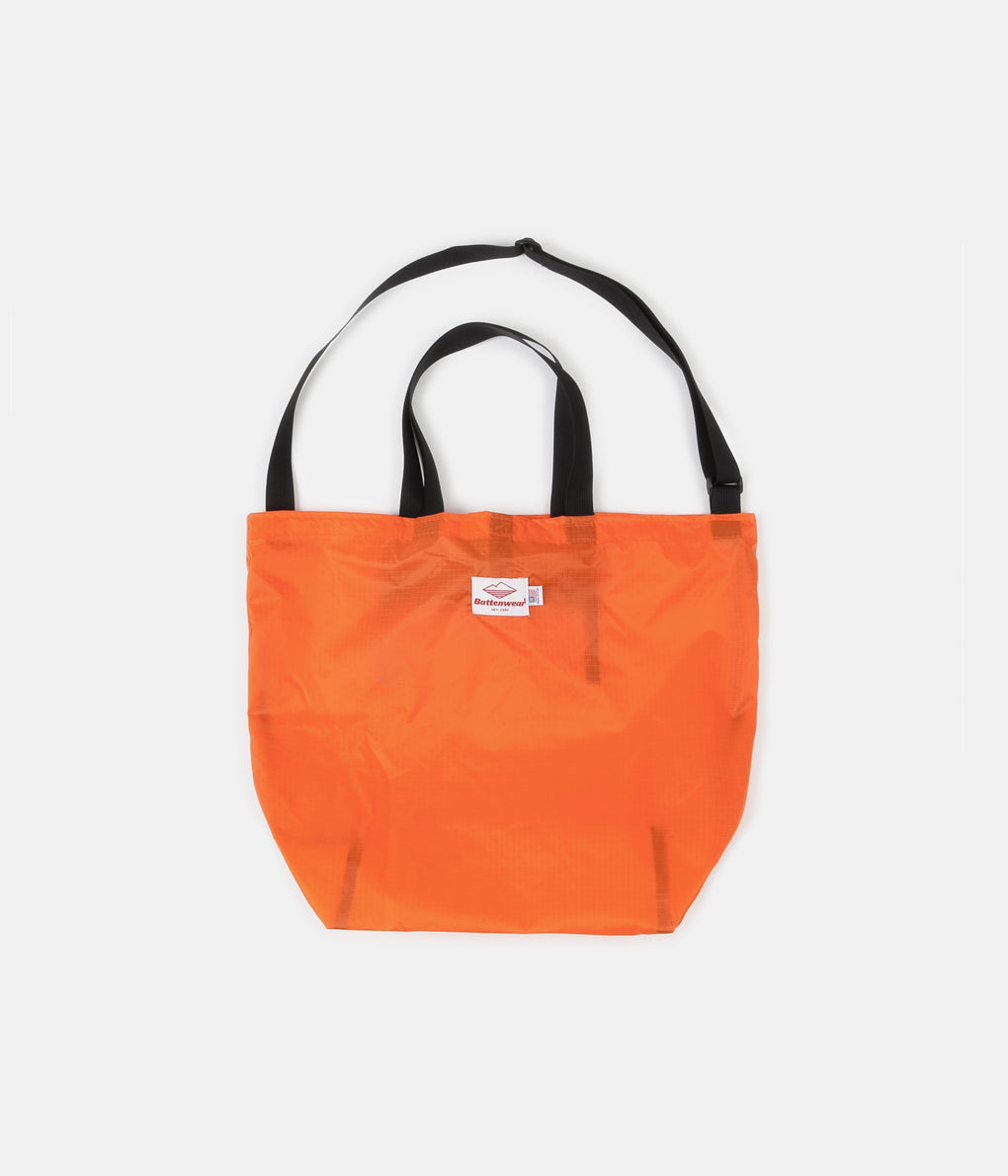 Battenwear Packable Tote - Orange / Black
