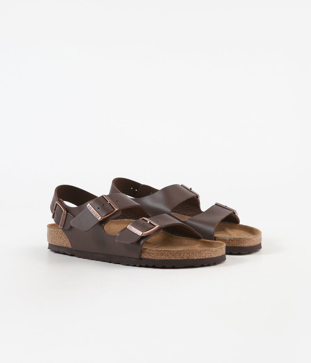 Birkenstock Milano Sandals - Dark Brown