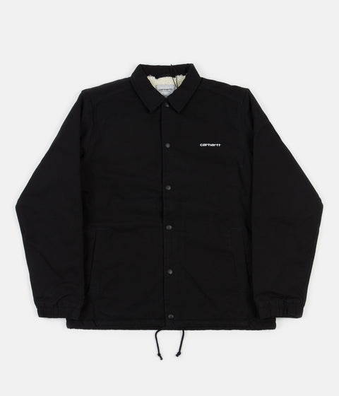 Carhartt Canvas Coach Jacket - Black / White