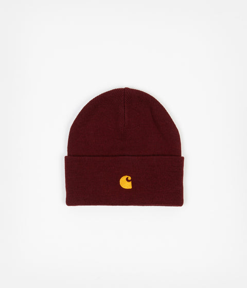 Carhartt Chase Beanie - Bordeaux / Gold