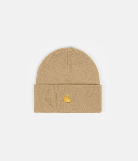 Carhartt Chase Beanie - Dusty Hamilton Brown / Gold