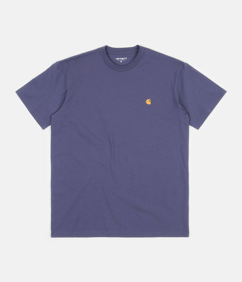 Carhartt Chase T-Shirt - Cold Viola / Gold