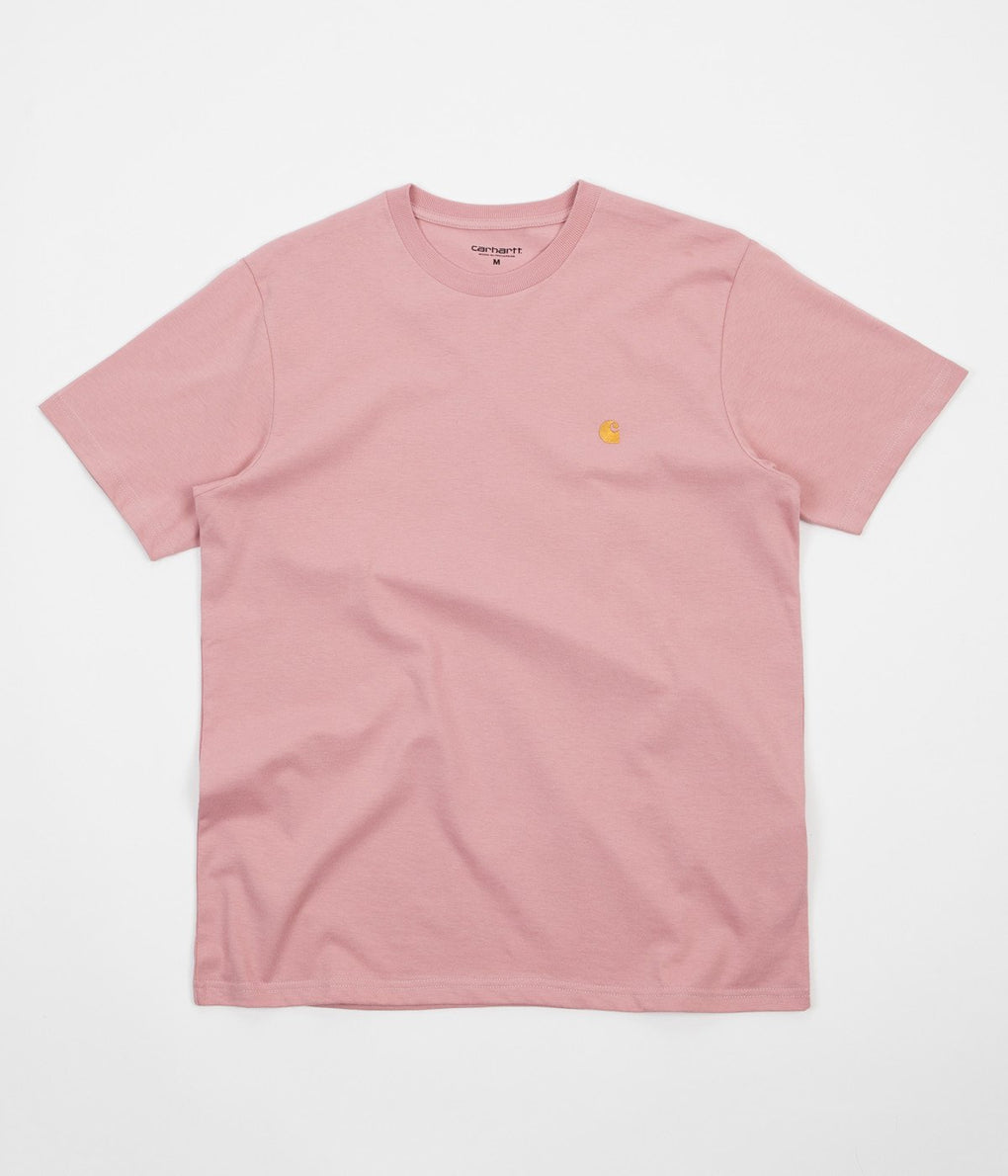 Carhartt Chase T-Shirt - Soft Rose / Gold