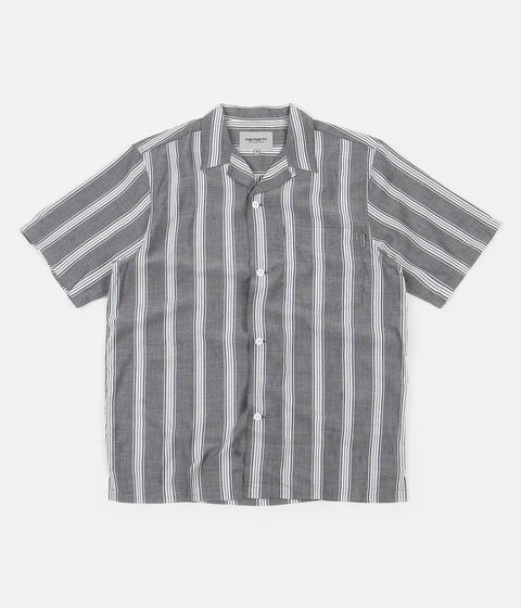 Carhartt Chester Stripe Short Sleeve Shirt - Black