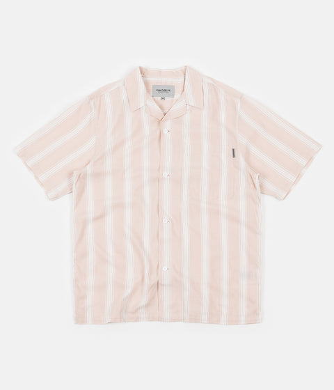 Carhartt Chester Stripe Short Sleeve Shirt - Powdery