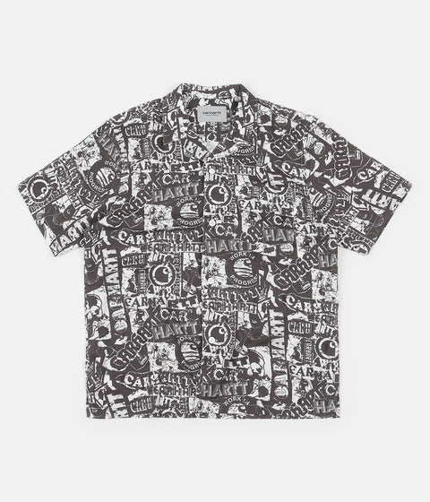 Carhartt Collage Short Sleeve Shirt - Black / White