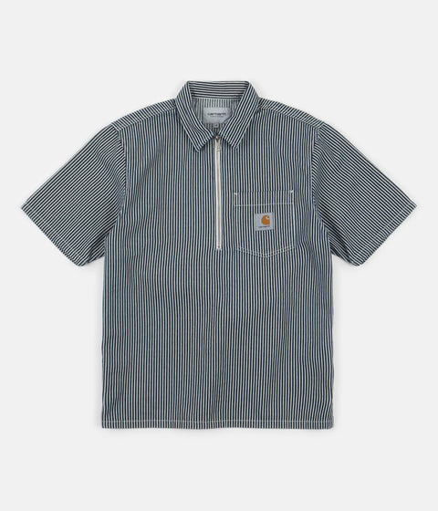 Carhartt Dash Short Sleeve Shirt - Blue / White
