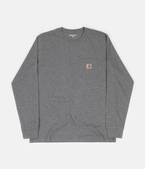 Carhartt Long Sleeve Pocket T-Shirt - Dark Grey Heather