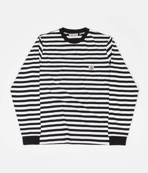 Carhartt Scotty Pocket Long Sleeve T-Shirt - Scotty Stripe / Black / White