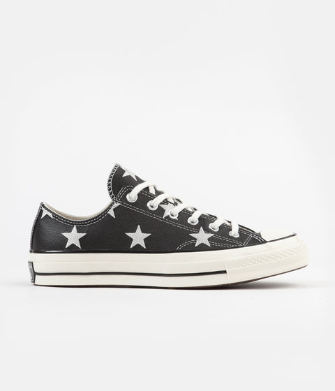 Converse CTAS 70's Ox Archive Print Leather Shoes - Black / Egret / White