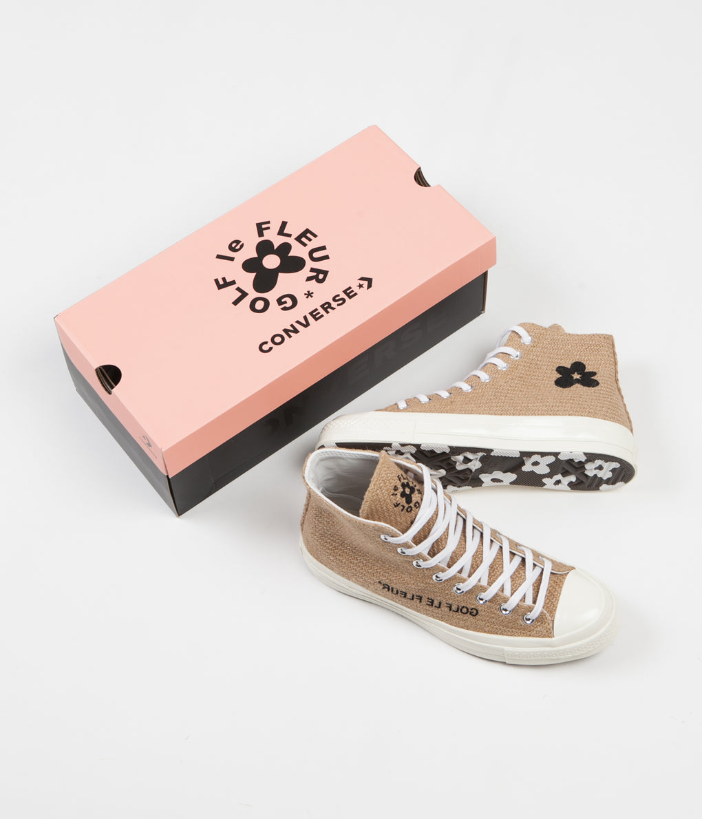 Converse Golf Le Fleur Chuck 70's Hi Shoes - Curry / Egret / Black