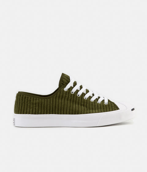 Converse JP Ox Wide Wale Cord Shoes - Surplus Olive / White / Black